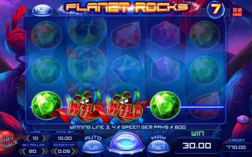 Planet Rocks Review Slots Four of a kind