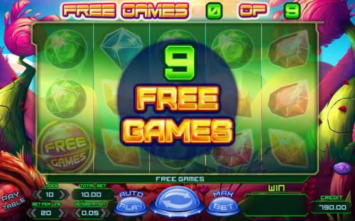 Planet Rocks Review Slots 9 Free Games Awarded