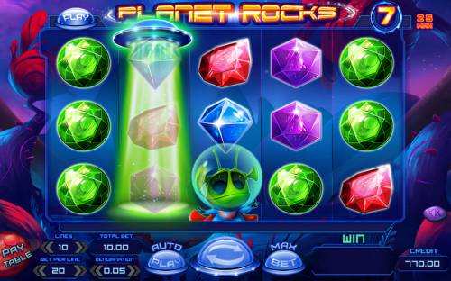 Planet Rocks Review Slots Random wild feature triggered