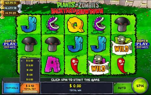Plants vs Zombies Backyard Showdown Review Slots Select the Total bet icon to change your betting preference.