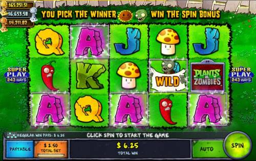 Plants vs Zombies Backyard Showdown Review Slots  A wild symbol leads to a five of a kind.