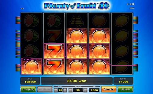 Plenty of Fruit 40 Review Slots Another big win triggered by multiple winning paylines.
