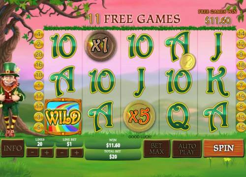 Plenty O' Fortune Review Slots Multiple winning paylines with 5x and 1x multipliers