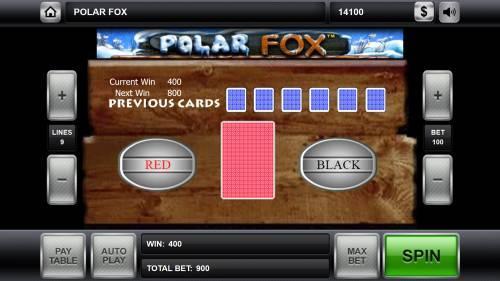 Polar Fox Review Slots Red or Black Gamble feature