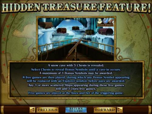 Polar Explorer Review Slots Hidden Treasure Bonus Feature rules