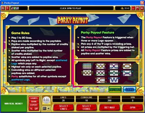 Porky Payout review on Review Slots