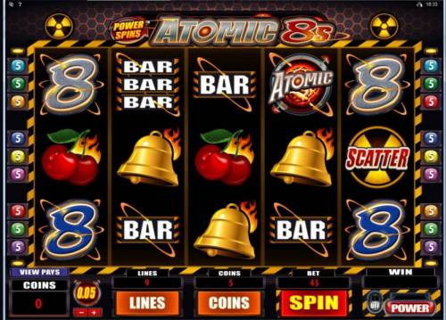 Power Spins - Atomic 8's review on Review Slots