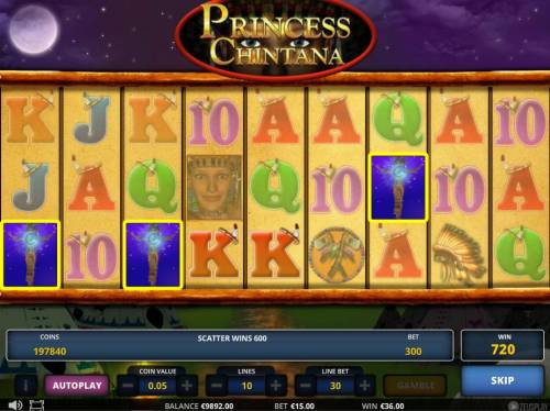 Princess Chintana Review Slots Scatter trigger a 600 coin jackpot