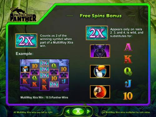 Prowling Panther Review Slots Free Spins Bonus - 2X symbol rules