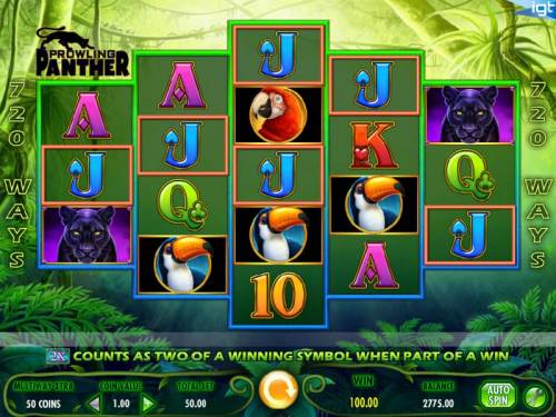 Prowling Panther Review Slots Winning spin produces a $100 payout