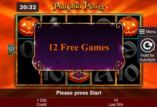 Pumpkin Power Review Slots 12 Free Games awarded