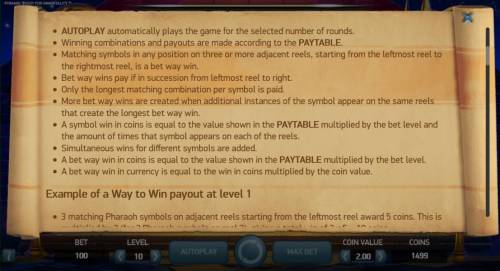 Pyramid Quest for Immortality Review Slots General Game Rules - Continued