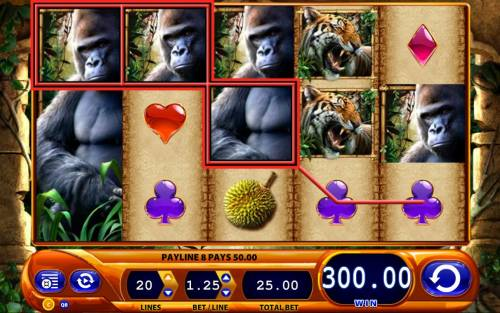 Queen of the Wild Review Slots Multiple winning paylines triggers a 300.00 big win!