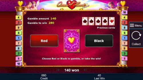 Queen of Hearts Deluxe Review Slots General Game Rules - The theoretical return to player is 95.31%