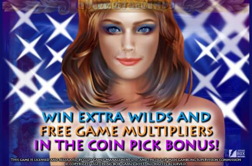 Queen of Legends Review Slots Win extra wilds and free game multipliers in the coin pick bonus!