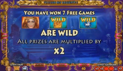 Queen of Legends Review Slots 7 free games have been awarded and all prizes are multiplied by 2