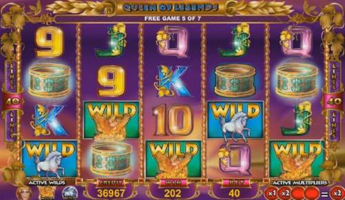 Queen of Legends Review Slots Multiple winning paylines triggers a big win!