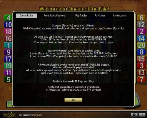 Queen of the Nile review on Review Slots
