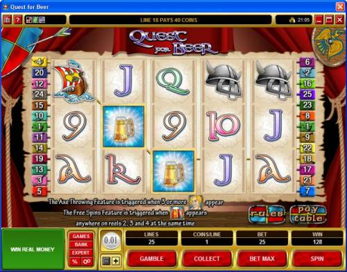 Quest for Beer review on Review Slots
