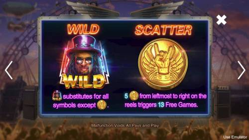 Rave High Review Slots Wild and Scatter Symbol Rules