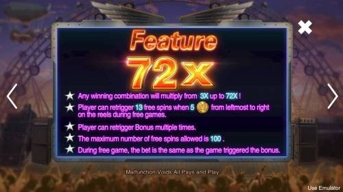 Rave High Review Slots Feature Rules