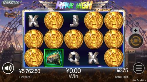 Rave High Review Slots Scatter win triggers the free spins feature