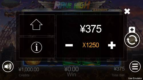 Rave High Review Slots Betting Options