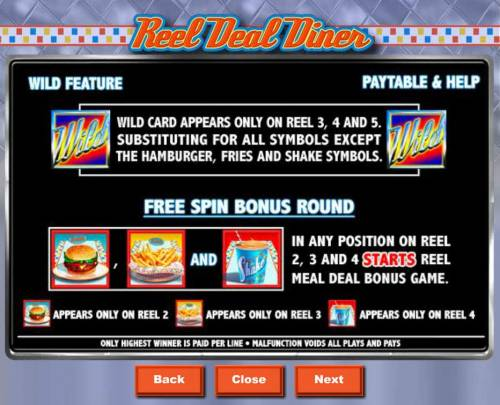 Reel Deal Diner Review Slots Wild and Scatter Symbols Rules and Pays