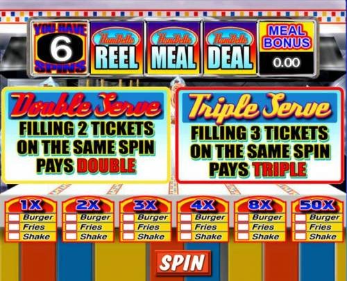 Reel Deal Diner Review Slots Collect as many hamburger, fries and shake combinations for increased multiplier wins.