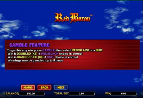 Red Baron review on Review Slots