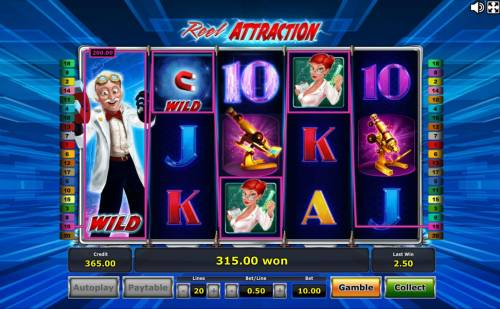 Reel Attraction Review Slots The Reel Slide feature triggers a 200.00 line pay.