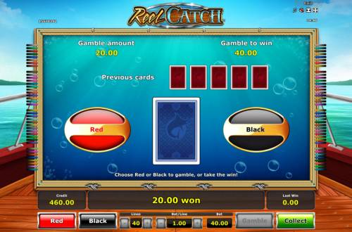 Reel Catch Review Slots Red or Black Gamble feature