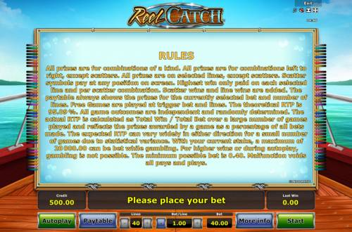 Reel Catch Review Slots General Game Rules