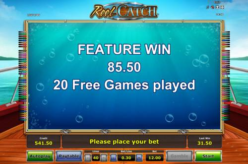 Reel Catch Review Slots Total Free Spins Payout
