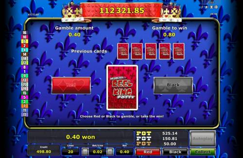 Reel King Potty Review Slots Gamble Feature Game Board