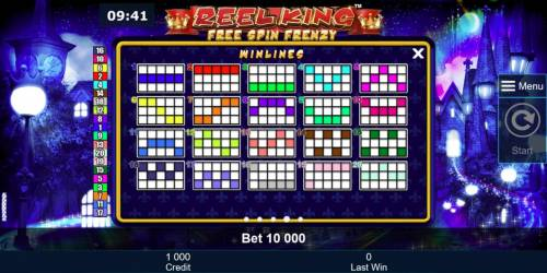 Reel King Free Spin Frenzy Review Slots Payline Diagrams 1-20