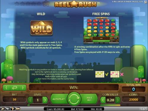 Reel Rush Review Slots wild and free spins rules
