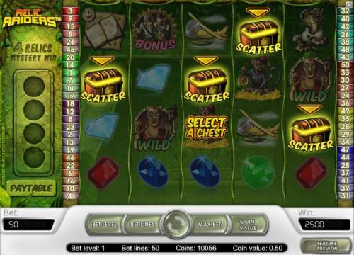 Relic Raiders Review Slots select a chest to determine your winnings