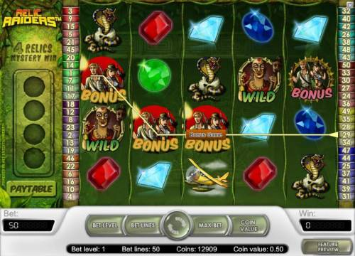 Relic Raiders Review Slots bonus game triggered