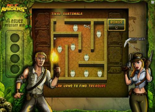 Relic Raiders Review Slots Tikal, Guatemala bonus game board