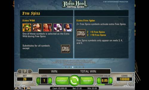 Robin Hood - Shifting Riches Review Slots Robin Hood Shifting Riches free spins, extra wild and extra free spins