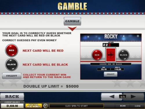 Rocky Review Slots Gamble Feature Games Rules