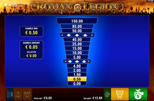 Roman Legion Review Slots Ladder Gamble Feature Game Board