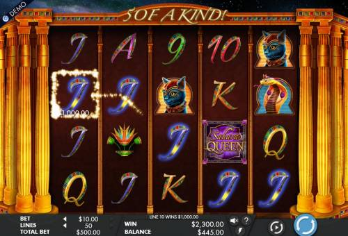 Sahara Queen Review Slots A 2,300.00 big win triggered by multiple winning paylines.