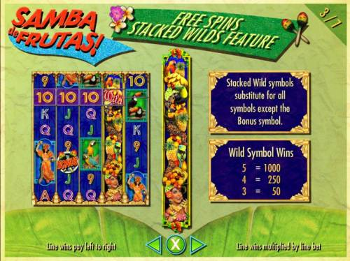 Samba de Frutas Review Slots Free Spins Stacked Wilds Feature