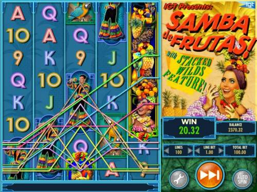 Samba de Frutas Review Slots Multiple winning paylines triggers a big win!
