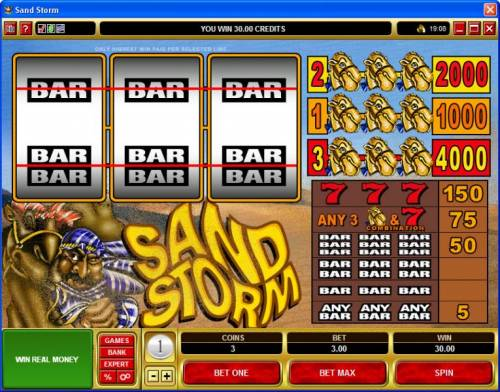Sand Storm review on Review Slots