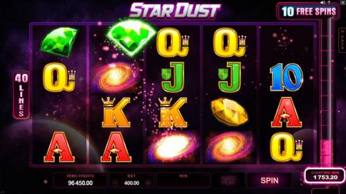 Star Dust review on Review Slots