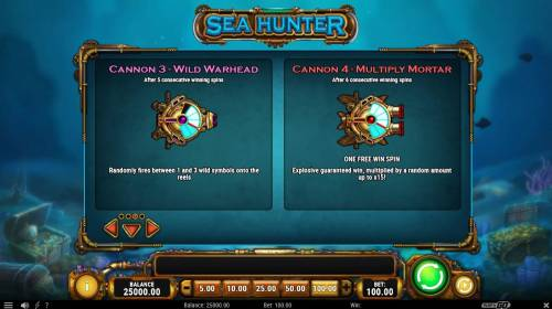 Sea Hunter Review Slots Wild Warhead and Multiply Mortar Rules