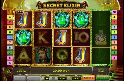 Secret Elixir Review Slots Scatter win triggers the free spins feature
